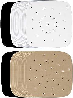 dedepeng Lot de 100 tapis de cuisson en papier sulfurisé pour vapeur en bambou