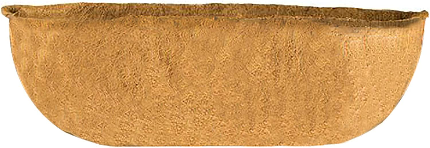 Fixed price for sale QLINDGK 36Inch Reservation Half Moon Coco Coir Wall Plante Trough Liner