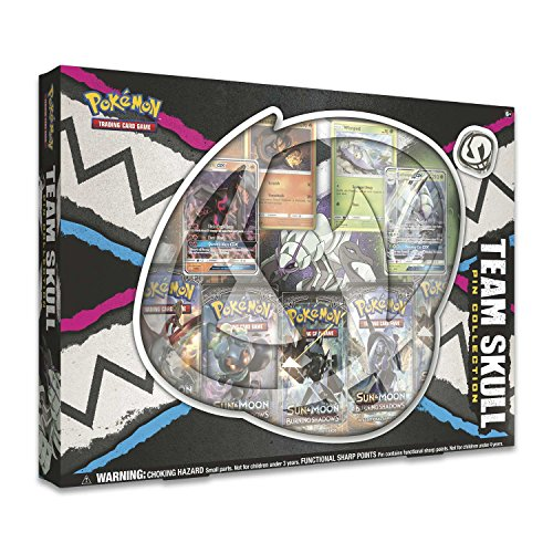 Pokemon TCG: Team Skull Gx Pin Box | 4 Foil Promo Cards | 5 Booster Packs