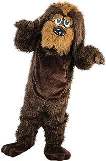 Langteng Brun långhårig hund tecknad maskot kostym riktig bild 15-20 dagars leverans märke