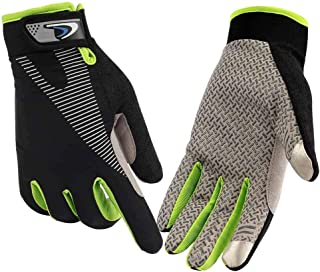 CFTech Cycling Gloves Touchscreen Ultimate Frisbee Gloves Non-Slip Flexible Thin Workout Gloves for Men Women