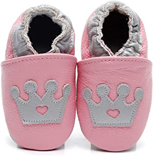 Bebila Cartoon Baby Moccasins with Soft Sole - Baby Girls Boys Shoes Leather Slippers for Infant First Walkers Toddlers