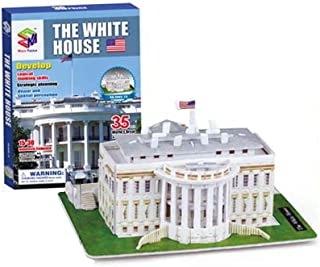 Dazzling Toys 35 Pcs Easy Assembling 3D White House