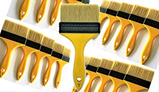 PANCLUB 20 Pack of Paint Brush for Home Wall Trim House | Sturdy Bristles Chip Paint Brushes Bulk 4 inch | 100% Plastic | for Paint, Gesso, Glues, Varnishes, Stains, Acrylics Completely Recyclable