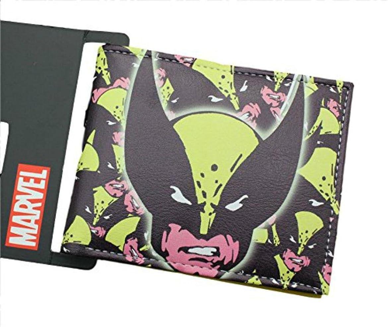 カトリック教徒極地今Marvel Comics X - Men Wolverineコラージュ二つ折りメンズBoys Wallet w /ギフトボックスby Athena