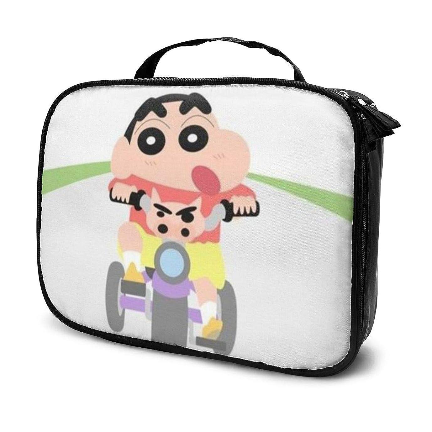 繁雑粘り強いホイストDaituクレヨンしんちゃんサイクル 化粧品袋の女性旅行バッグ収納大容量防水アクセサリー旅行