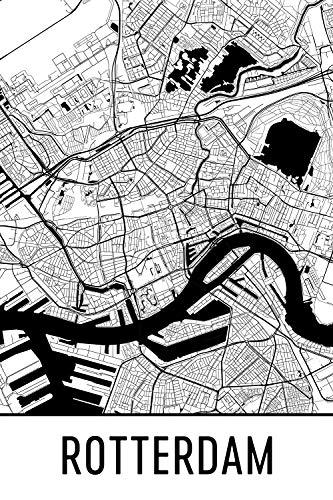 Modern Map Art Rotterdam Print, Rotterdam Art, Rotterdam Map, Rotterdam Nederland, Rotterdam Poster, Rotterdam Wall Art, Rotterdam Gift, Rotterdam Decor, Rotterdam Scape
