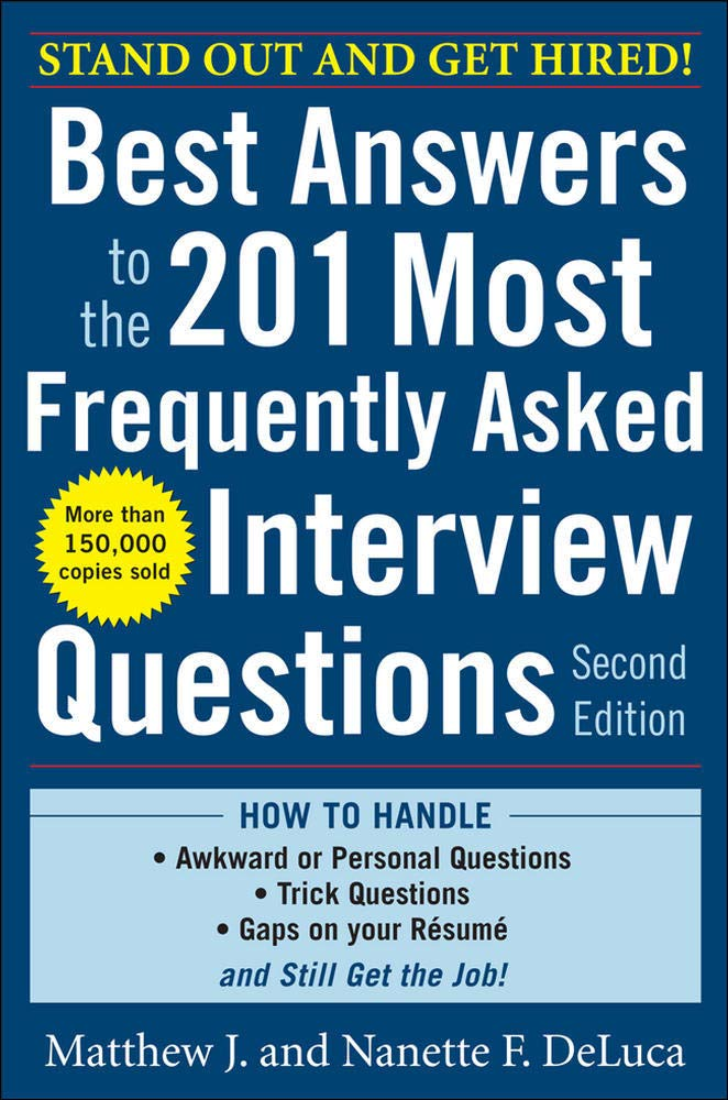 Download Best Answers To The 201 Most Frequently Asked Interview Questions, Second Edition 