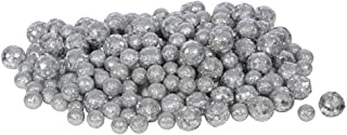 Vickerman 60ct Silver Sequin and Glitter Christmas Ball Decorations 0.8
