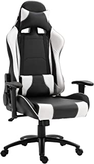 Mahmayi 9854 Gaming Chair High-Back Racing style with Pu Leather Bucket Seat, 360 Swivel with heavy duty steel can hold up...