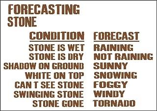 Yohoba Weather Forecasting Stone Metal Sign 12