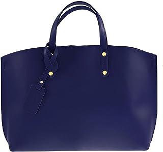 Chicca Tutto Moda CTM Borsa a Mano da Donna Elegante, 47x30x14cm, Vera Pelle 100% Made in Italy