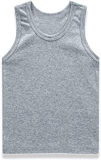 Yiding Unisex Kids Vest I-Shaped Summer Cotton Solid Color Top Shirt