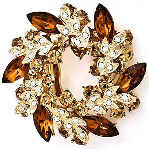 NLAND Broche de Corona Para Mujer Broche De Flores Elegante Hermosa Bauhinia