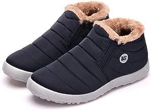 حذاء رجالي من bolomee مقاوم للماء برقبة طويلة للثلوج فائق الدفء