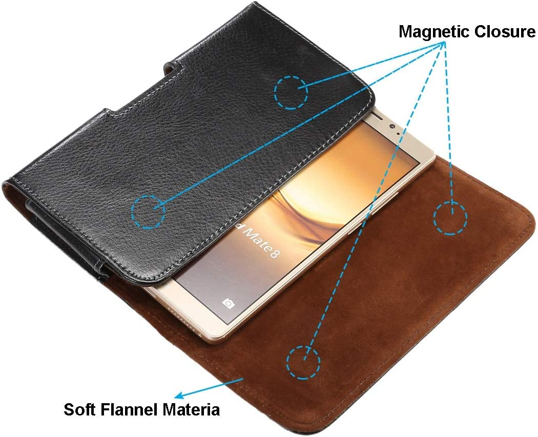 Genuine Leather Cell Phone Holster for iPhone 12 Pro Max,for Samsung S20 FE,S21 Ultra 5G,S21+ 5G,Note 20 Belt Clip Holster Phone Holder Carrying Pouch