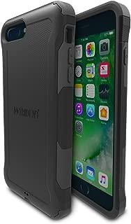 iPhone 7 Plus, iPhone 8 Plus Case - Dual Layer, Slim Drop Protection, Anti-Skid, Impact Resistant - Black, Aegis Series