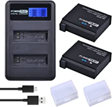 PowerTrust 2 Pack 1680mAh AHDBT-401 Battery and LCD Dual USB Charger for Gopro Hero 4 Batteries Go Pro Hero4 AHDBT 401 Action Camera Accessories
