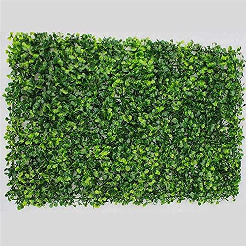 Kasahome 4 Pezzi Siepi Siepe Artificiale Decorativa Buxus Pannello Erba Sintetica Pianta di Bosso Foglie Sintetiche per Interno ed Esterno 60x40 cm