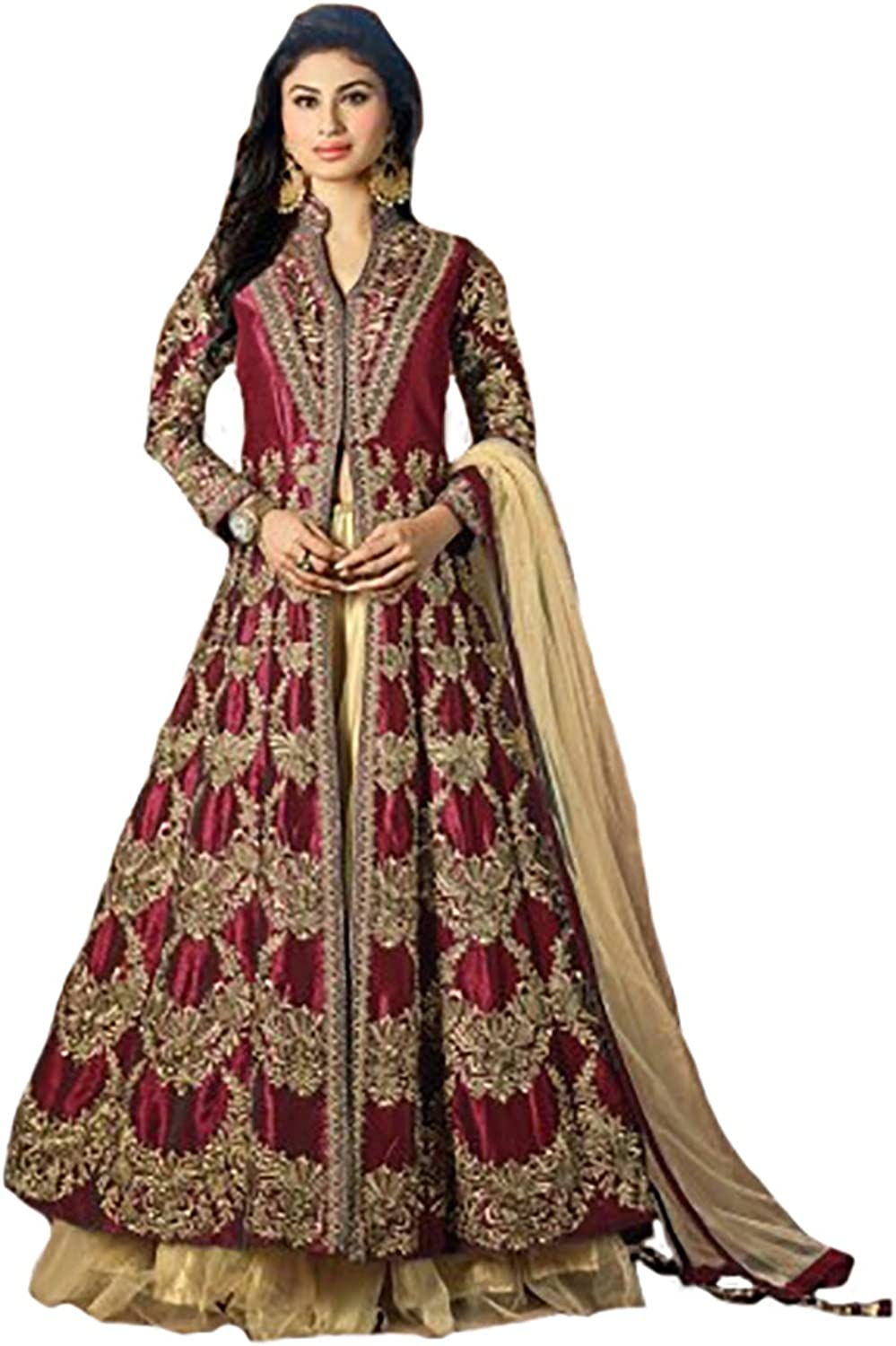 Ethnic Anarkali Salwar Kameez Suit Dupatta Ceremony Wedding Bridal