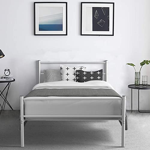 2021 Giantex Metal Bed Frame Twin Size, Platform Bed with Headboard and Footboard, Sturdy Metal lowest popular Slats, Box Spring Replacement, Mattress Foundation for Kids Adults Guest Room (Silver) outlet sale