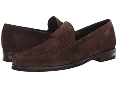 Canali Suede Loafer (Dark Brown) Men