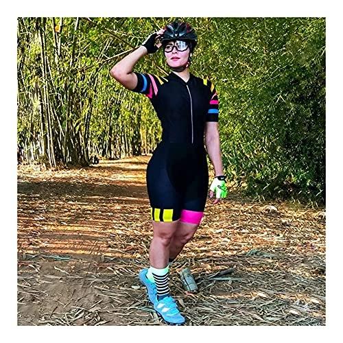 LYDIANZI Triatlón Traje Mujeres, Jersey de ciclismo, Jumpsuit One Piece Cycling Sudadera Sudadera con bolsillos (Color : A, Size : XL)