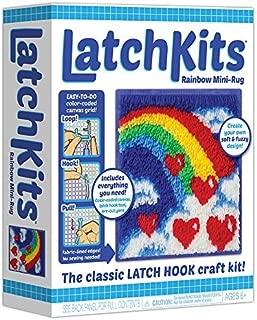 LatchKits Mini-Rug Sewing Kit The Classic Latch Hook Craft Kit - Rainbow