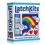 LatchKits Mini-Rug Sewing Kit The Classic Latch Hook Craft Kit - Rainbow