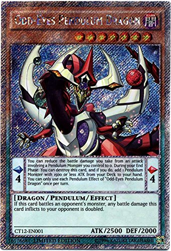 YU-GI-OH! - Odd-Eyes Pendulum Dragon (CT12-EN001) - 2015 Mega-Tin Exclusives - Limited Edition - Platinum Secret Rare