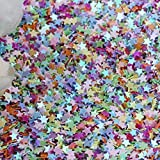 ab Mix 6mm 20g ALENAOO 6mm 10mm 20mm Paillettes Glitter Tondo Piatto Paillettes in PVC con Polvere Flash per Lenti Lente per manualidades 20g