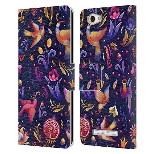 Offizielle Oilikki Paradis Gemischte Designs Leder Brieftaschen Huelle kompatibel mit Wileyfox Spark X
