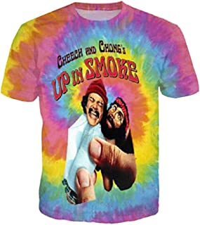 Doxi Cheech and Chong Up in Smoke Funny Fashion Sport Gym Training Men T-Shirt