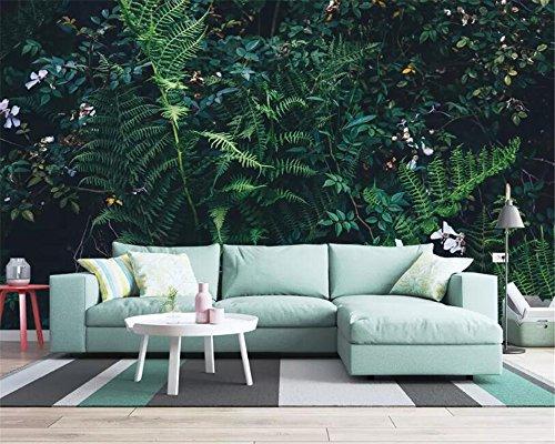 WOONN hoogwaardig 3D-behang fantasie groene regenwoud jungle woonkamer TV sofa achtergrond muur 2