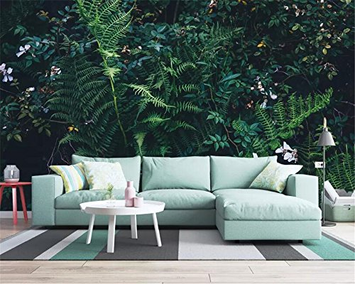 BHXIAOBAOZI behang, fotobehang, 3D Wallpaper Fantasy Groene regenwoud jungle woonkamer TV sofa achtergrond Wall 3D Wallpaper voor woonkamer TV achtergrond slaapkamer muur decoratie 440cm(W)×270cm(H)