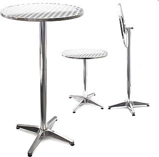 Mesa de bar Bistro Aluminio Plegable Altura regulable 74/114