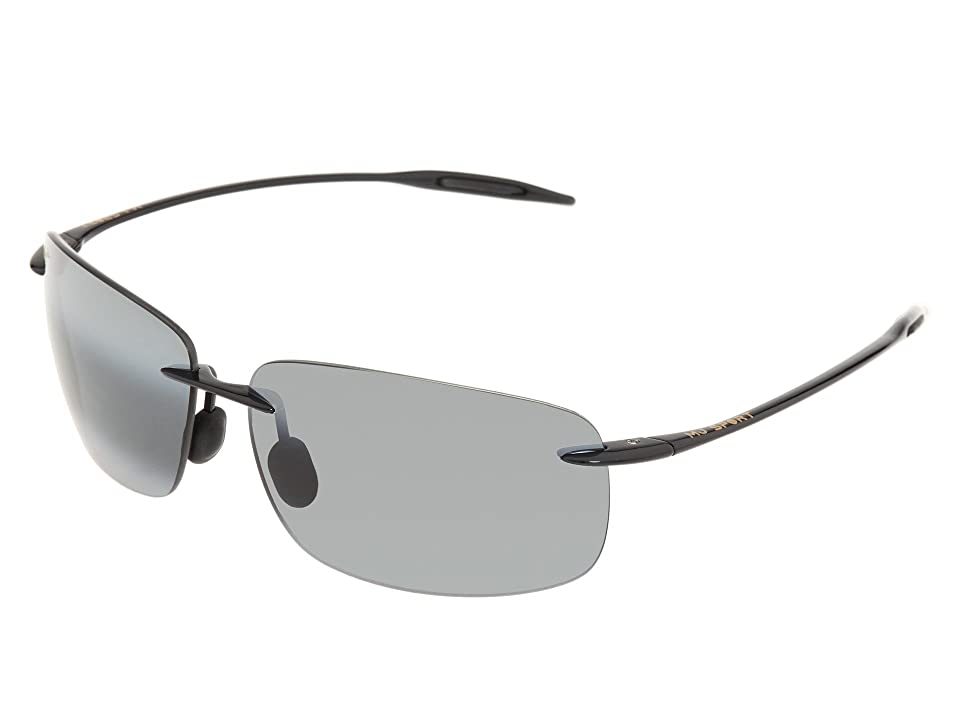 Maui Jim Breakwall (Gloss Black/Neutral Grey Lens) Sport Sunglasses
