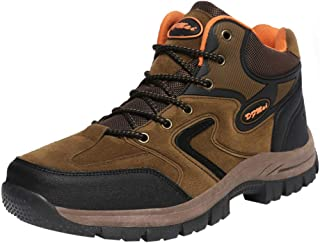 Haforever Outdoor Men's Tactical Military Combat Ankle Boots Water Resistant Lightweight Mid Hiking Boots