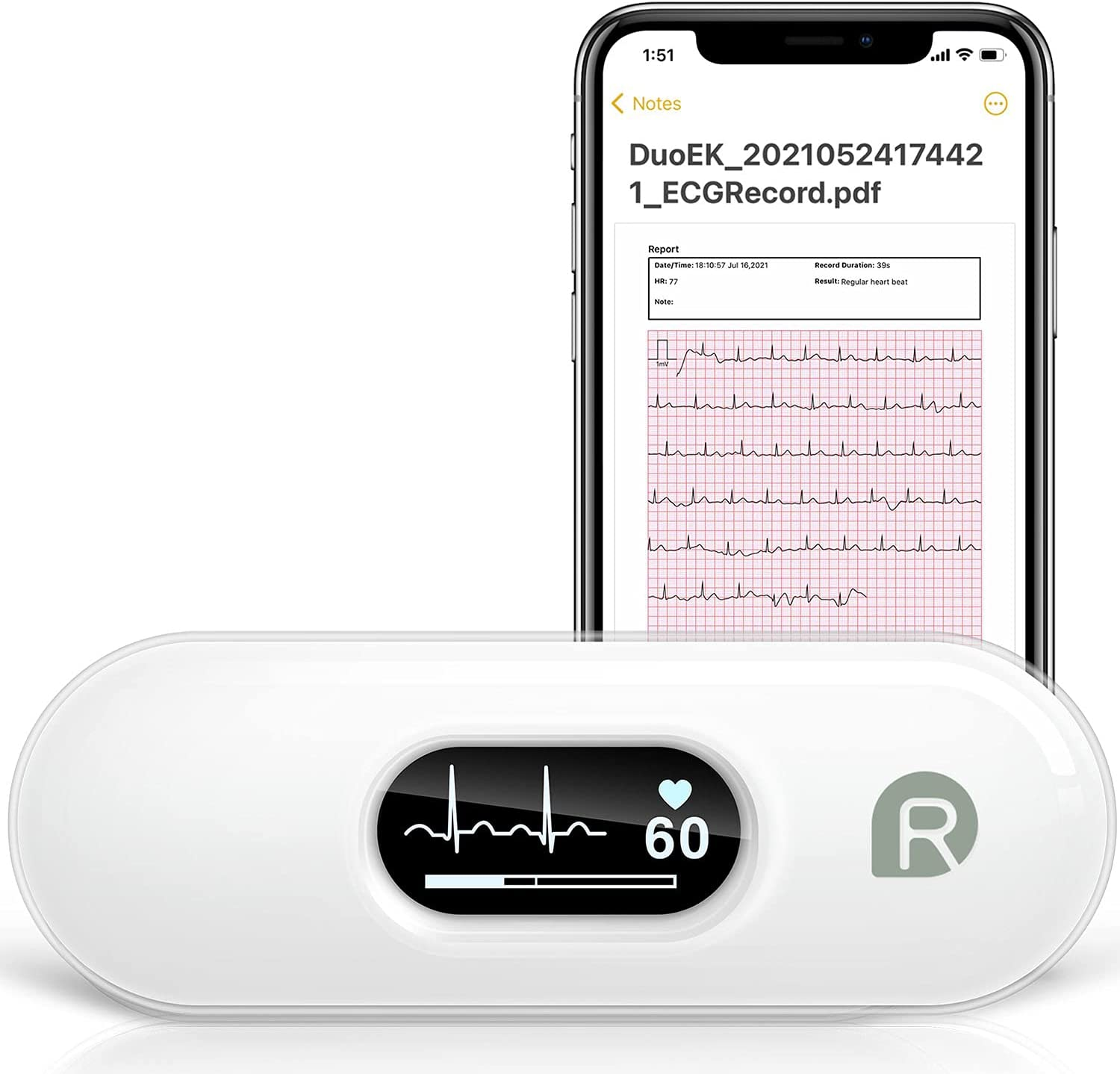 Wellue DUOEK-S Bluetooth Heart Monitoring Device $44.99 Coupon