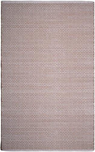 FAB HAB, tappeto in cotone riciclato, fibra naturale ecologica, tessuto a mano, colore beige, 60 x 90 cm, cotone