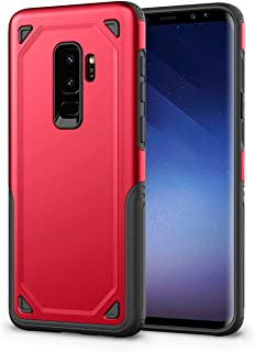 Hyperion (Titan Series) For Samsung Galaxy S9 Plus Shockproof TPU Dual Layer Armor Design Hybrid Cover Case Red