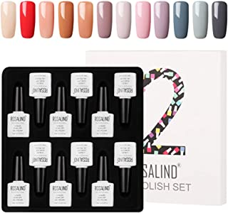 ROSALIND gel esmalte de uñas kit de barniz gel semi-permanente de uv y led gel nail polish 12pcs 10ml