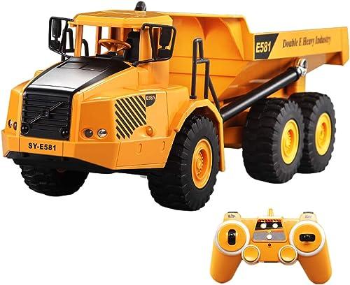 K9CK Camion Télécomhommedé, 2.4GHz Camion à Benne Télécomhommedé Engins de Construction radiocomhommedés pour Enfants