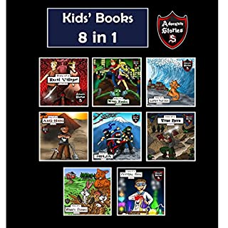 Kids' Books: Kids' Adventure Story Books 8 in 1 cover art