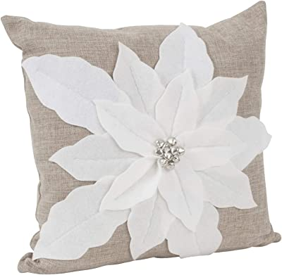 Amazon.com: Diseño de fieltro de Pascua Holiday Blanco Throw ...