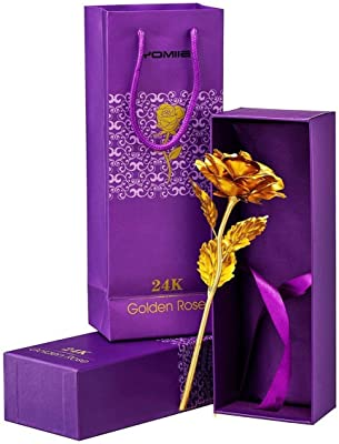 AARCHITA Women Gifts, Gold Rose Flower Present 24K Golden Foil with Luxury Gift Box Great Gift Idea for Valentine's Day, Mother's Day, Thanksgiving Day, Christmas, Birthday, Anniversary