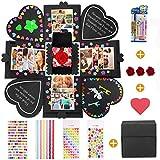 MMTX Explosion Gift Box Sorprese Romantiche Creative DIY Photo Album,La Confezione Regalo, Idee Regalo per Compleanno, Matrimoni Anniversario Album Fotografico Fai da Te (Nero)