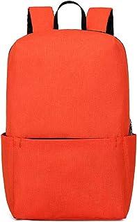 XFentech Casual Backpack - Adjustable Multifunctional Lightweight Large Capacity Rucksack,Orange,31 * 23 * 13 cm