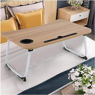 طاولة كمبيوتر محمول قابلة للطي، مكتب سرير Erwazi، صينية سرير قابلة للحمل لتناول الإفطار، طاولة نزهة صغيرة وخفيفة الوزن للغ...