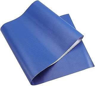 WINOMO 3D Vinilo de fibra de carbono Autoadhesivo Prueba de Agua para Coche Movil 30 x 127cm (azul)